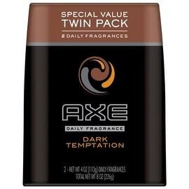 AXE Body Spray for Men, Dark Temptation 4 oz, Twin Pack