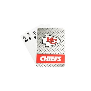 Kansas City Chiefs Playing Cards Diamond Plate
