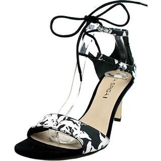 Via Spiga Skylar Women Open Toe Canvas Black Sandals