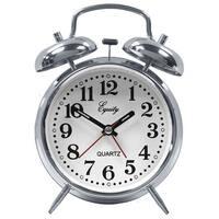 Equity 13014 Analog Quartz Alarm Clock with Twin Bell Alarm