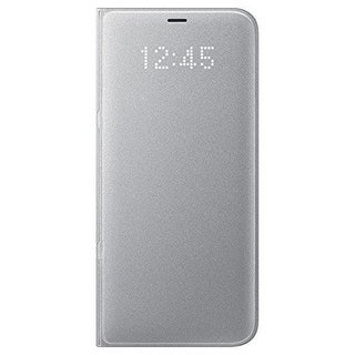 Samsung LED Wallet Cover for Samsung Galaxy S8 Plus - Silver LED Wallet Cover for Samsung Galaxy S8 Plus