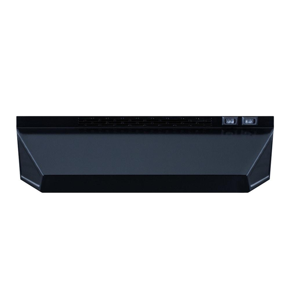 """Summit  H1618  160 CFM 18"""" Wide Under Cabinet Range Hood (Black)"""
