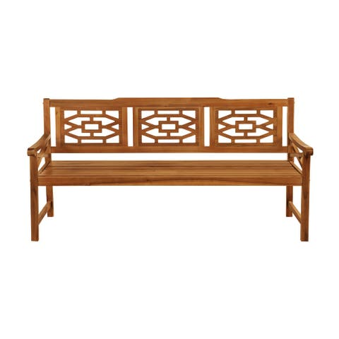 OVE Decors Malay 72 in. Bench with Natural Wood Look Finish - 72 in.