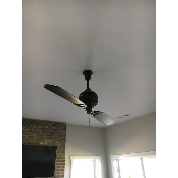 Hunter 1886 Limited Edition 60 Inch Ceiling Fan With Two Carved Wood Blades Free Shipping Today 11197495