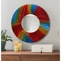 Statements2000 Red / Blue / Gold Metal Decorative Wall-Mounted Mirror by Jon Allen - Mirror 119 - Thumbnail 10