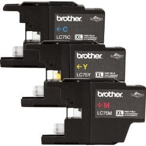 Brother DY3461b Brother Printer LC753PKS 3 Pack- 1 Each LC75C, LC75M, LC75Y Ink