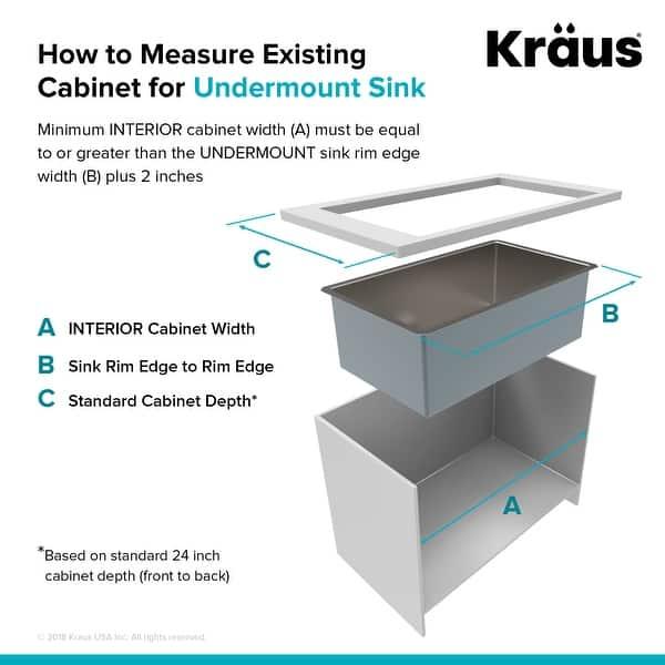 Kraus Standart Pro Stainless Steel 21 Inch Undermount Kitchen Sink Overstock 23561277