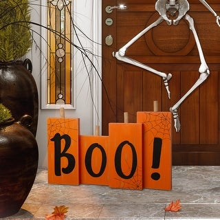 Link to Glitzhome Halloween Wooden Boo Standing Decor Similar Items in Outdoor Halloween Decorations