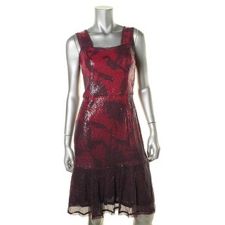 Rachel Rachel Roy Womens Sequined Sleeveless Cocktail Dress