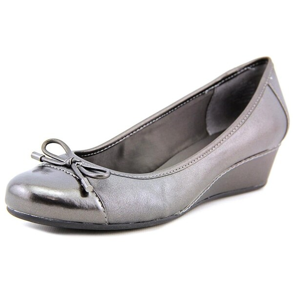 Easy Spirit Davalyn Open Toe Leather Wedge Heel