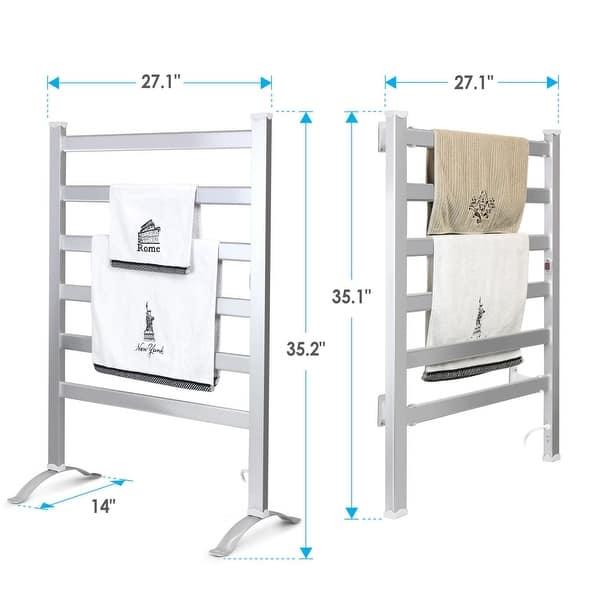 Innoka Wall Mounted Freestanding Electric Heated Towel Warmer Overstock 14271902