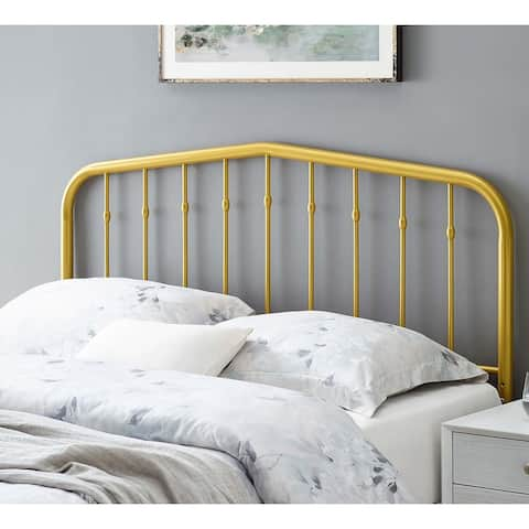 Camberly Arched Twin Size Gold Metal Headboard