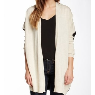 Bobeau NEW Beige Women's Size XL Colorblock Open Front Cardigan Sweater