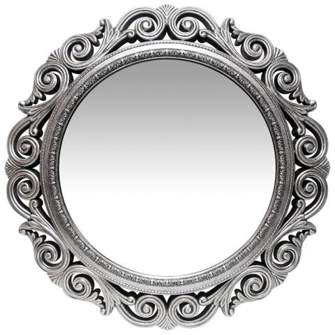 Antique Silver 23 inch Antique Silver Traditional Decorative Wall Mirror