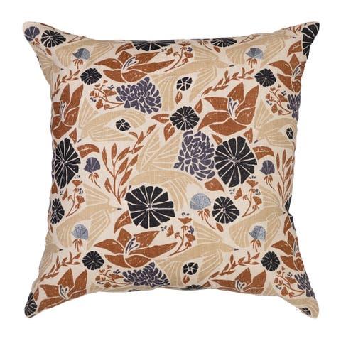 "Arden Selections Home 20"" Throw Pillow - Woodlock Birds and Botanicals"