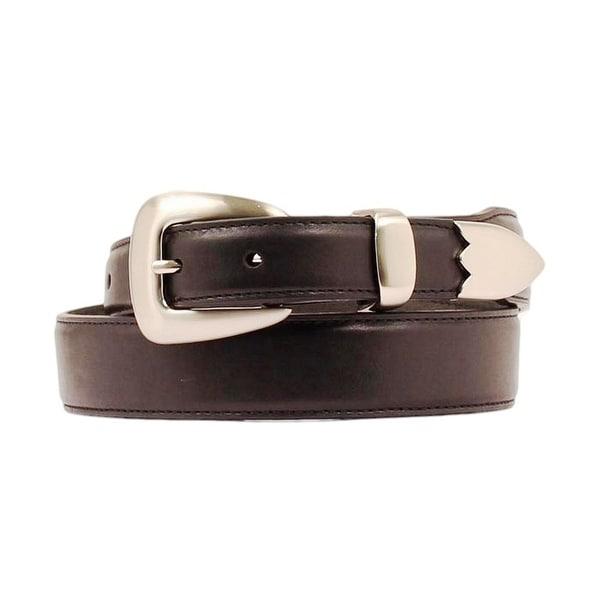 Nocona Western Belt Mens Leather Smooth Tapered Black