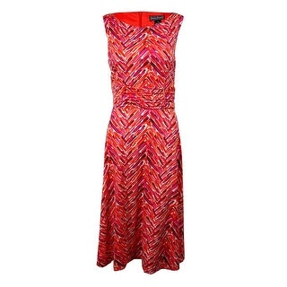 Jessica Howard Woman's Printed Sleeveless Jersey Dress