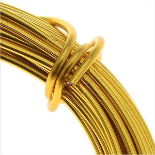 Artistic Wire, Aluminum Craft Wire 12 Gauge Thick, 12 Meter Spool, Anodized Gold