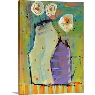 """Purple Vase"" Canvas Wall Art"
