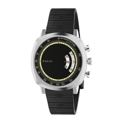 Gucci Men's YA157301 'Grip' Black Silicone Watch