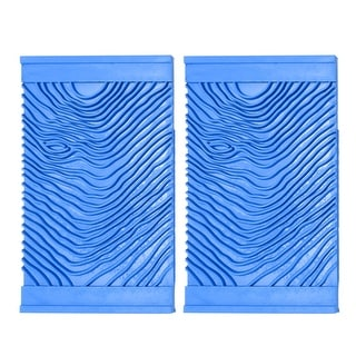 "Wood Graining Rubber Grain Tool Pattern Wall Painting DIY Blue 3.7'' Wide 2Pcs - 4"" 2pcs - 4"" 2pcs"