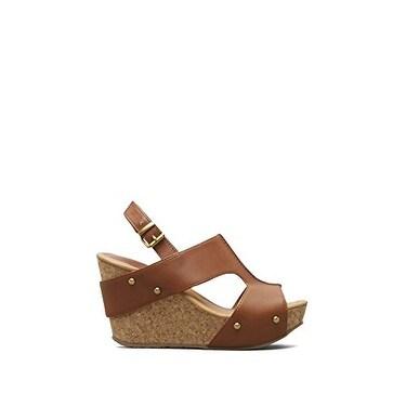 Kenneth Cole Reaction Womens Sole-O Peep Toe Casual Platform Sandals