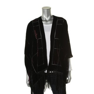 Vince Camuto Womens Velvet Open Front Cardigan Top - M