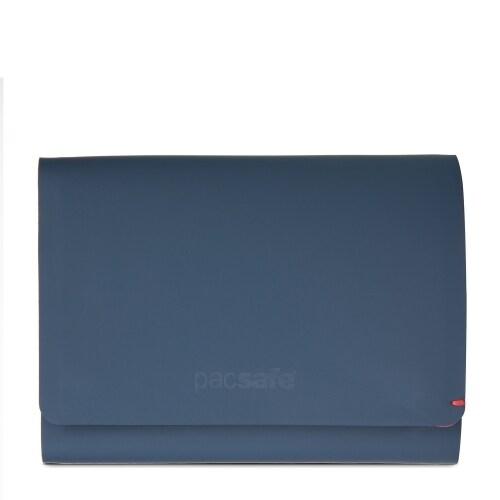 Pacsafe RFIDsafe TEC Trifold Wallet- Navy/Red RFID Blocking Slim Tri-fold Wallet