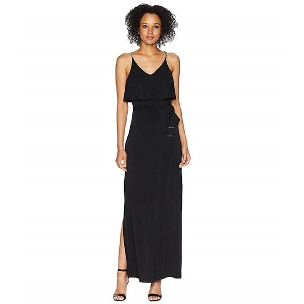 2710affbdcae2 Michael Kors Women's Chain-Embellished Popover Maxi Dress (Black,M)
