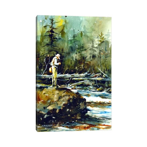 "iCanvas ""Fishing in the Wild II"" by Dean Crouser Canvas Print"