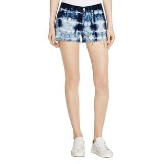 J Brand Womens Cutoff Shorts Denim Tie-Dye