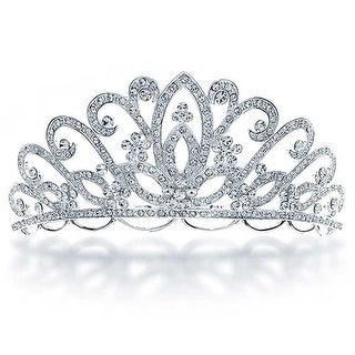 Bridal Tiara For Wedding Rhinestone Princess Headpiece Crown Hair Accessories For Bride Party Prom Pageant Birthday