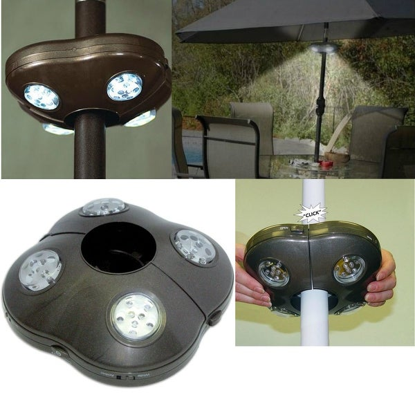 Shop Rite Lite Lpl1040bx Wireless Battery Operated 40 Led Umbrella