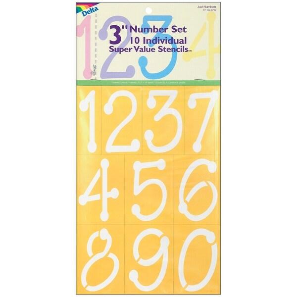 """Stencil Mania Stencils 7""""X10""""-Just Numbers 3"""""""