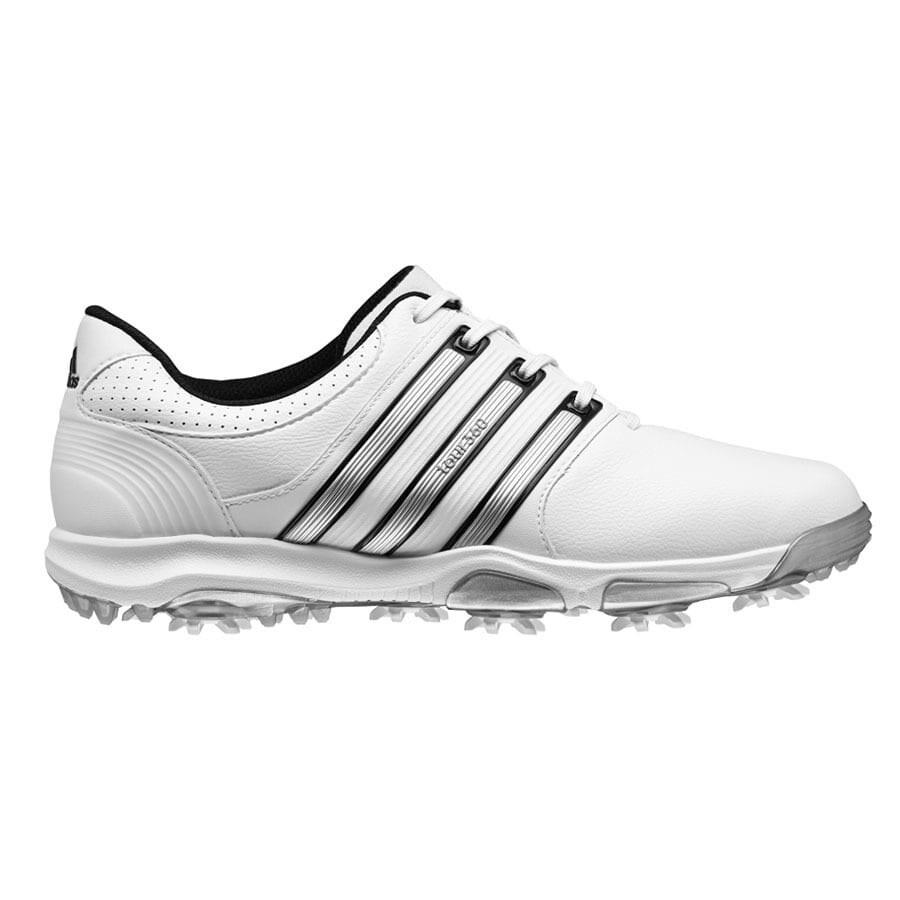 Sacrificio Elocuente pellizco  Adidas Men's Tour 360 X White/Silver Metal/Core Black Golf Shoes Q47031 /  Q47054 - Overstock - 18220236