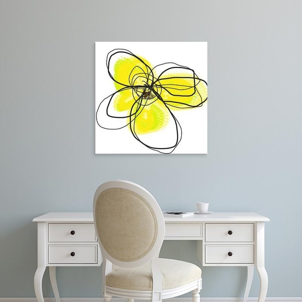 Easy Art Prints Jan Weiss's 'Yellow Petals Two' Premium Canvas Art