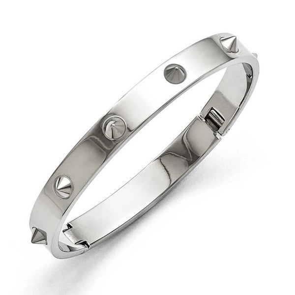 Chisel Stainless Steel Polished with Spikes Bracelet