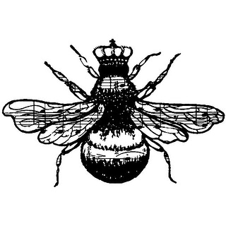 "Donna Salazar Cling Stamps 4""X3""-Queen Bee"