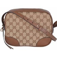 """Gucci 449413 Beige Canvas Leather GG Guccissima BREE Crossbody Purse Bag - 8.5"""" x 7"""" x 4"""""""