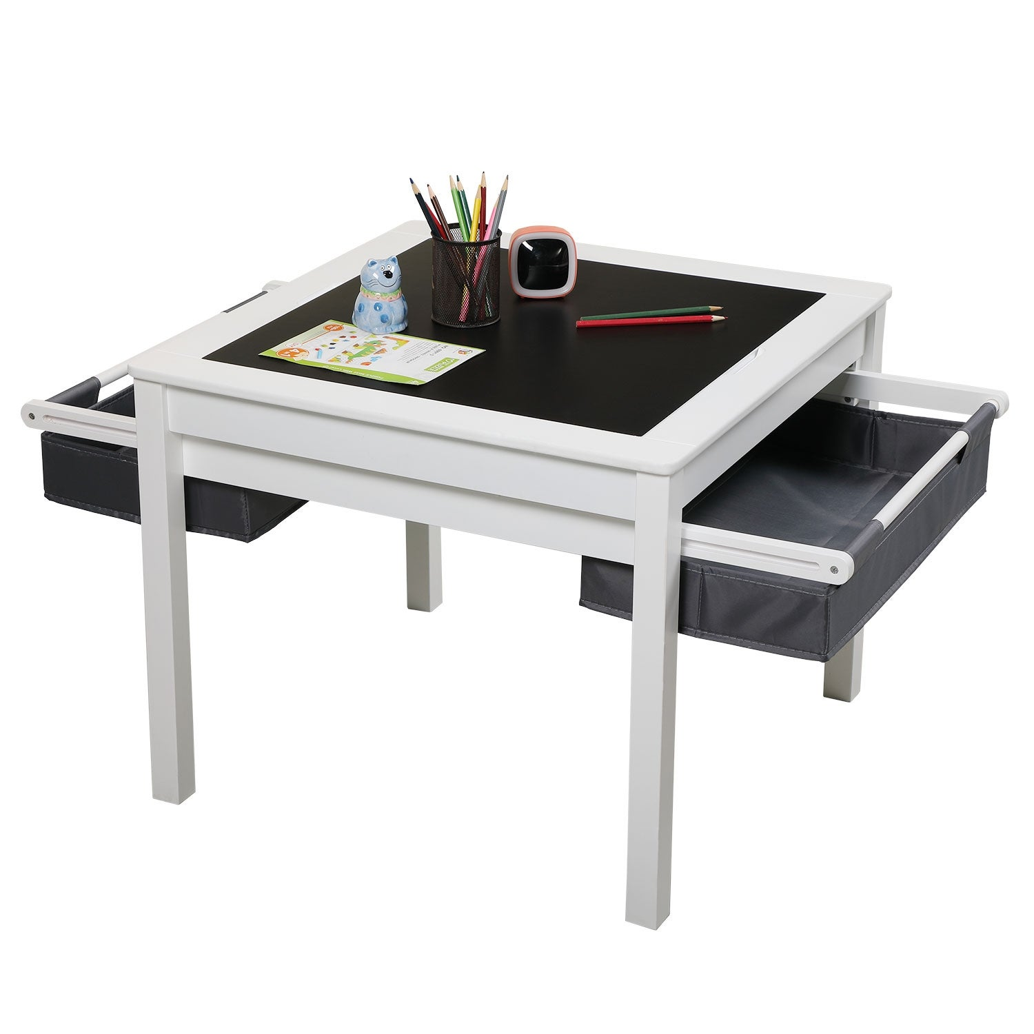 Picture of: Shop 3 In 1 Kids Activity Table Set W Building Block Table And Storage Box Overstock 32110498