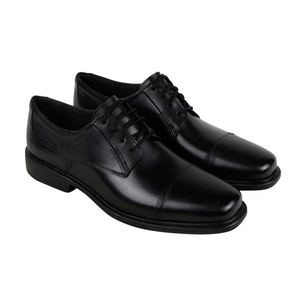 Bostonian Wenham Mens Black Leather Casual Dress Lace Up Oxfords Shoes