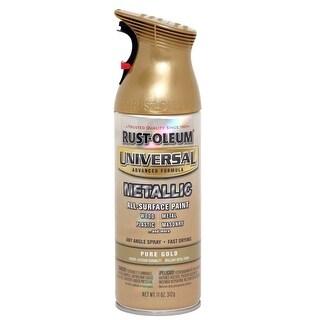 Rust-Oleum 245221 Universal Advance Formula Metallic Spray Paint, Pure Gold, 11-Oz.