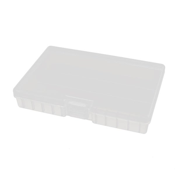175mmx112mmx32mm Transparent Plastic Battery Case Organizer for AAA Batteries