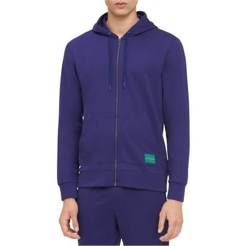 Calvin Klein Mens Monogram Logo Hoodie Sweatshirt