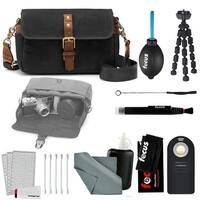 ONA - The Bowery - Camera Messenger Bag - Black Waxed Canvas & Accessory Kit
