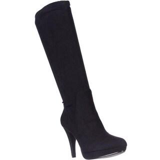 Adrienne Vittadini Premiere Stretch Knee-High Boots, Black