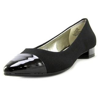 Anne Klein Kazia Women Round Toe Leather Black Flats
