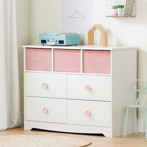 South Shore Sweet Piggy 4-Drawer Dresser with 3 Baskets