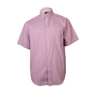 Roundtree & Yorke Men's Mini-Check Cotton Shirt