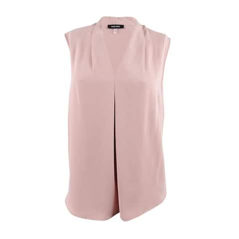 Nine West Women's Plus Size Sleeveless V-Neck Cami Top (2X, Antique Rose) - Antique Rose - 2X